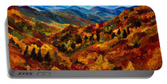 Blue Ridge Mountains In Fall II Portable Battery Charger