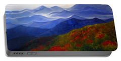 Portable Battery Charger featuring the painting Blue Ridge Mountains Of West Virginia by Katherine Miller