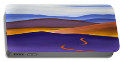 Blue Ridge Orange Mountains Sky And Road In Fall Portable Battery Charger