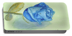 Blue Rose Portable Battery Charger by Pamela  Meredith