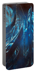 Blue Satin Portable Battery Charger
