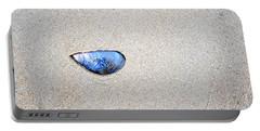 Blue Shell Portable Battery Charger by Randi Grace Nilsberg