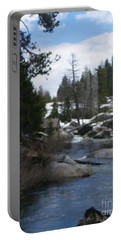 Portable Battery Charger featuring the photograph Blue Skies Of Winter by Bobbee Rickard
