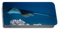 Portable Battery Charger featuring the photograph Blue Spotted Fantail Ray by Eti Reid