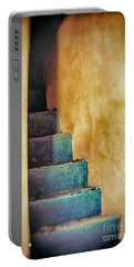 Blue Stairs - Yellow Wall    Portable Battery Charger