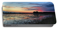 Blue Sunset Over The Refuge Portable Battery Charger