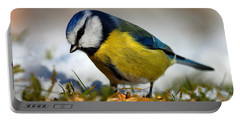 Portable Battery Charger featuring the photograph Blue Tit by Gavin Macrae
