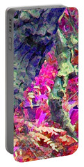 Portable Battery Charger featuring the photograph Blue Tree Pink Leaves by Stephanie Grant