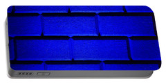 Blue Wall Portable Battery Charger by Semmick Photo