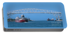 Blue Water Bridge And Freighters Portable Battery Charger