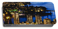 Portable Battery Charger featuring the photograph Blue Water Kitsilano Beach Mcdix by Amyn Nasser