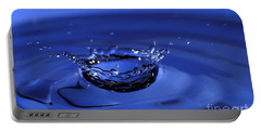 Blue Water Splash Portable Battery Charger