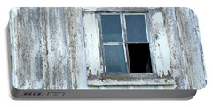 Blue Window In Weathered Wall Portable Battery Charger