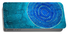 Blue World Original Painting Portable Battery Charger by Sol Luckman