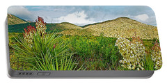 Blue Yucca And Chisos Mountains In Big Bend National Park-texas Portable Battery Charger by Ruth Hager