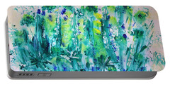 Bluebell Wood Portable Battery Charger by Veronica Rickard