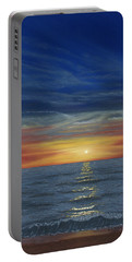 Blueberry Beach Sunset Portable Battery Charger