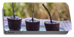 Blueberry Ice Pops Portable Battery Charger