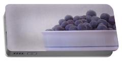 Blueberry Splash Portable Battery Charger by Kim Hojnacki