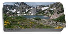 Portable Battery Charger featuring the photograph Bluebird Lake - Colorado by Cascade Colors