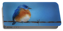 Bluebird On A Wire Portable Battery Charger by Marna Edwards Flavell