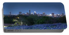 Bluebonnet Twilight Portable Battery Charger by Dave Files