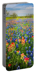 Bluebonnets And Prarie Fire Portable Battery Charger