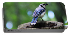 Portable Battery Charger featuring the photograph Bluejay by Alyce Taylor