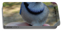Portable Battery Charger featuring the photograph Bluejay by Mim White