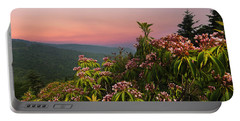 Blueridge Parkway Mountain Laurel Portable Battery Charger by Randall Branham