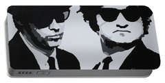 Blues Brothers Portable Battery Charger by Katharina Filus