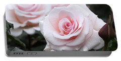Blush Pink Roses Portable Battery Charger