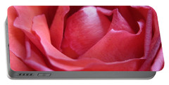 Blushing Pink Rose Portable Battery Charger