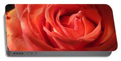 Blushing Orange Rose 1 Portable Battery Charger