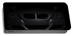 Bmw Car In Black Background Portable Battery Charger
