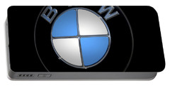 Bmw Emblem Portable Battery Charger by DigiArt Diaries by Vicky B Fuller