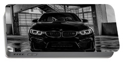 Portable Battery Charger featuring the digital art Bmw M4 by Douglas Pittman