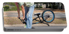 Bmx Rider Portable Battery Charger