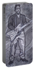 Bo Diddley - Have Guitar Will Travel Portable Battery Charger by Sean Connolly