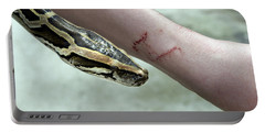 Boa Constrictor Bite Portable Battery Charger by M. Watson