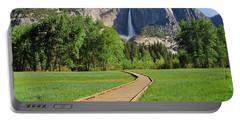 Boardwalk To Yosemite Falls  Portable Battery Charger