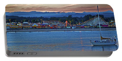 Boat At Dusk Santa Cruz Boardwalk Portable Battery Charger
