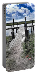 Portable Battery Charger featuring the photograph Boat Dock With Gulls by Patricia Greer