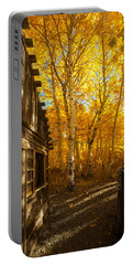 Boat House Among The Autumn Leaves  Portable Battery Charger