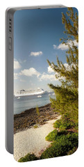 Portable Battery Charger featuring the photograph Boat In Port by Amar Sheow