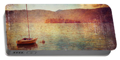 Boat On Lake Maggiore Portable Battery Charger