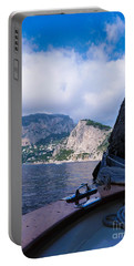 Portable Battery Charger featuring the photograph Boat Ride To Capri by Mike Ste Marie