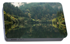 Portable Battery Charger featuring the photograph Boathouse by Katie Wing Vigil