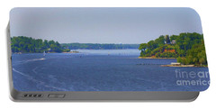 Boating On The Severn River Portable Battery Charger