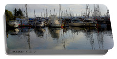 Portable Battery Charger featuring the photograph Boats At Marina On Liberty Bay by Greg Reed